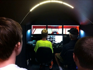 Flying the Simulator at the Youth Class