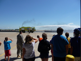 Youth Education Class at 190th Fire Truck demonstration