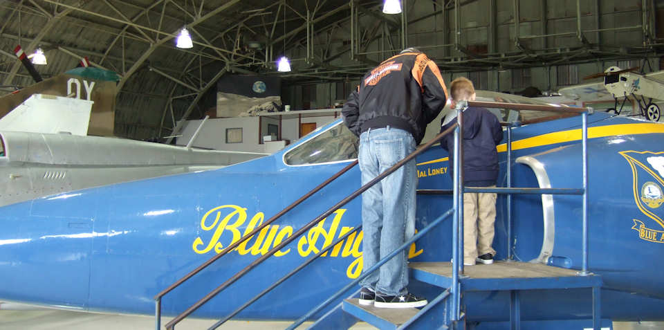 Blue Angel cockpit Inspection